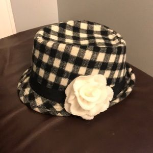Black and white checked for fedora